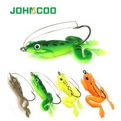 JOHNCOO 4 шт. приманка в виде лягушки, приманки для рыбной ловли, 6 см, искусственная приманка для рыбной ловли, воблер, приманка для щуки, рыболов...