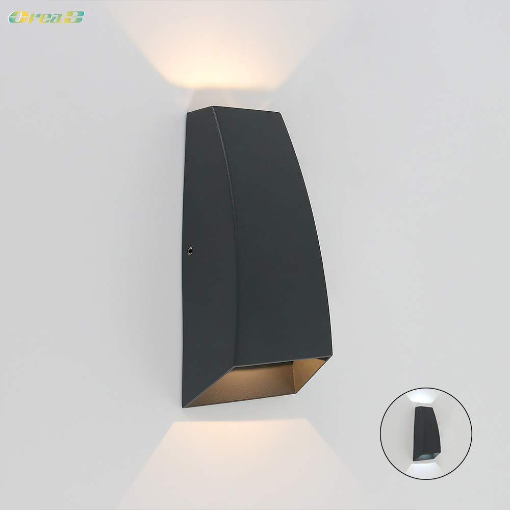 Oreab Designer 6w Up And Down Modern Black Wall Sconce Light Fixtures Bedroom Unique Decorative Led Wall Lamps Warm / Cold White