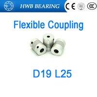 Free Shipping 10pcs Flexible Coupling D19L25 3x3mm 3x4mm 3x5mm 3x6mm 3x8mm 4x5mm 4x5mm 4x6mm 4x8mm OD
