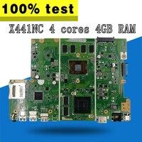 С 4 ГБ Оперативная память 4 ядра X441NC материнская плата для ноутбука ASUS X441N X441NC A441N Тесты оригинальный X441NC плата