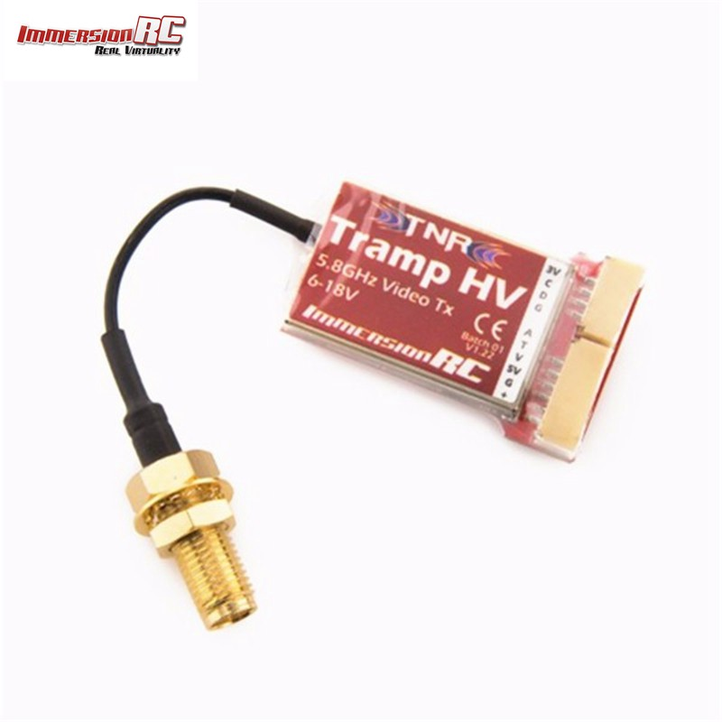 ImmersionRC Tramp HV 6-18V 5.8GHz 1mW to>600mW Video Transmitter International Version For RC Toys Models tramp sun trampoline 12