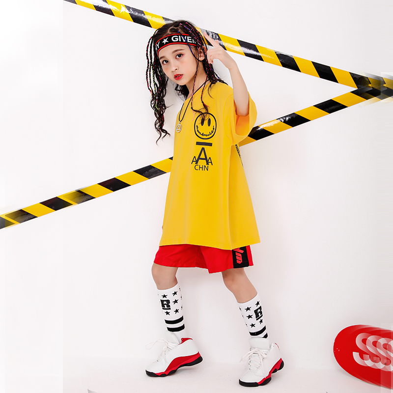 Boy Girl summer 2019 clothes Set 4 6 8 10 12 14 16T hip hop dance costumes kids Jazz set on the boy outfits kids clothes boys (4)