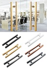 Stainless Steel Double Side Modern Square Glass Door Pull Handle Commercial Entrance