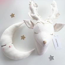 Handmade 3D Animal Head Toy Wall Decoration sheep Reindeer Unicorn kids bedroom artwork baby christmas stuffed