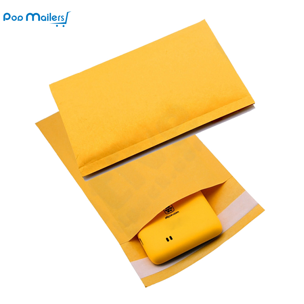 10pcs 15x23cm Kraft Bubble Mailers # 00 Padded Mailers 5x9 Inch Bubble Amplos