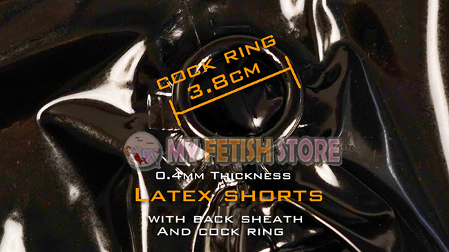 (DM509)Top quality Latex Rubber Shorts with Cock ring and Sheath fetish wear