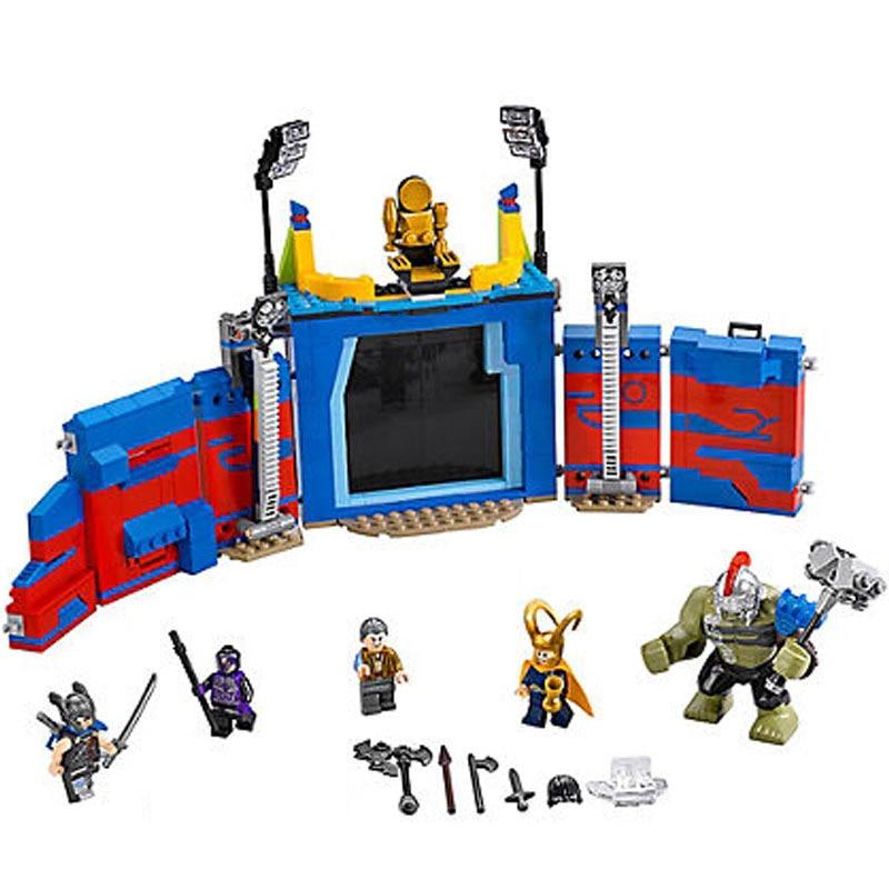 Bela 10749 Marvel Super Heroes Thor vs Hulk Arena 76088 Clash Building Block 516pcs Brick Toy Kids Gift For Children