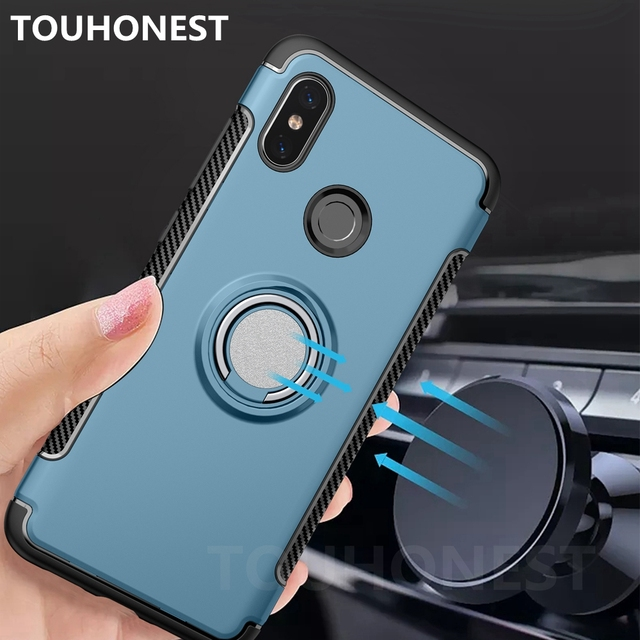 premium selection 2ed15 a716c US $2.98 15% OFF|Armor Metal Ring Holder Shockproof Case For Xiaomi Redmi  Note 5 Pro Mi A2 Mi 6X Back Cover For Xiaomi Mi 8 SE MiX 2S Mix 2 cases-in  ...