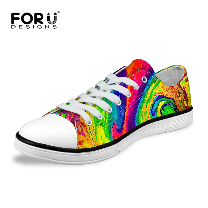 FORUDESIGNS  luxury brand Low-Top Women Canvas Flat Shoes,Casual Flats for Female Girls,Women Walking Shoes Plus Size 35-41 e lov women casual walking shoes graffiti aries horoscope canvas shoe low top flat oxford shoes for couples lovers