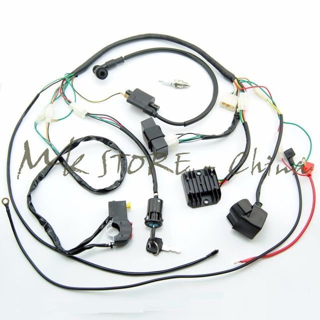 complete electrics wiring harness chinese dirt bike for 150 250cc rh aliexpress com Truck Wiring Harness Truck Wiring Harness