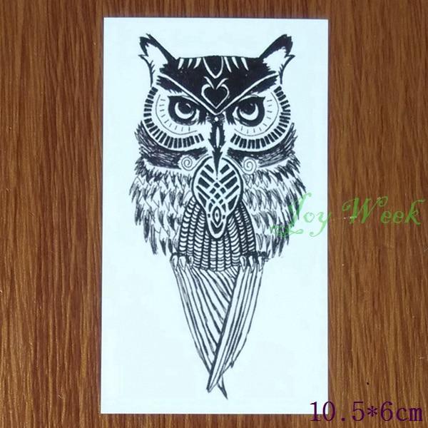 Waterproof Temporary Tattoo Sticker Owl Owls Tatto Stickers Flash