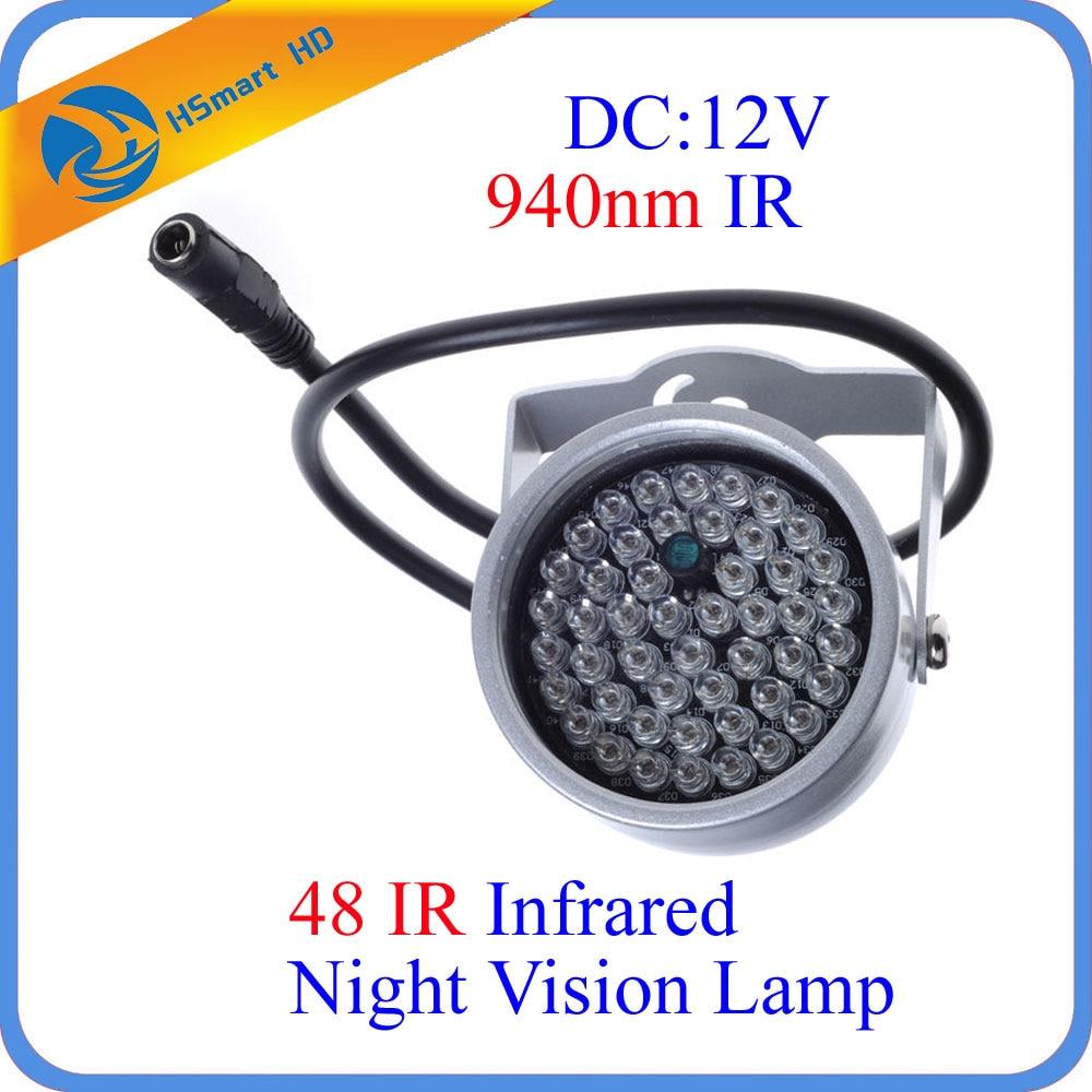 940nm 48 LED IR Illuminateur Feux Nuit Vision Lumière pour AHD TVI 940nm Filtre IR de Sécurité CCTV WiFi Mini Caméra système de sécurité
