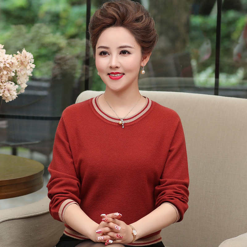 Fashion Pull 2019 Colour Sweater Plus Green Long Size Sleeve orange Aged Kintted New Middle pink camel Femme O Autumn Neck Women Tops Pullovers 4watxqY