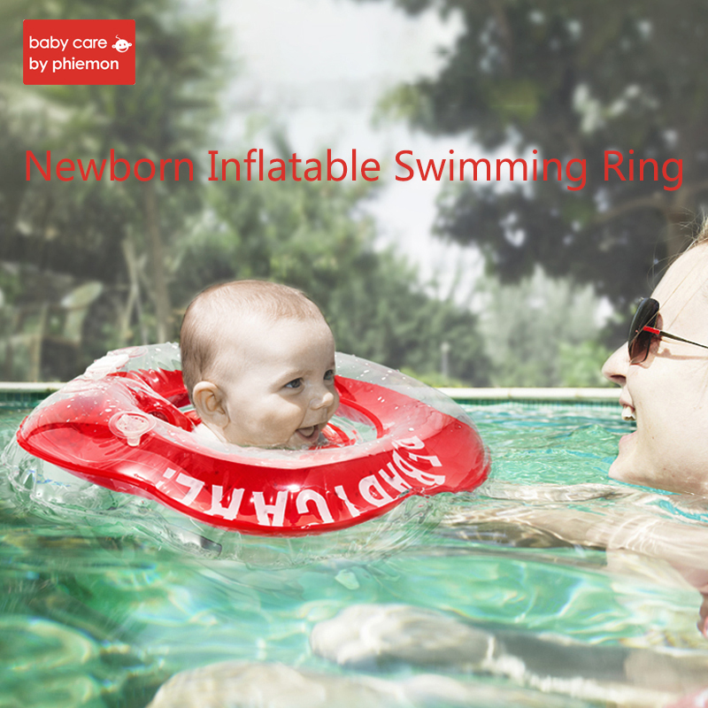 Newborn Swimming Ring Baby Neck Float Raft Rings Inflatable TPU Swim Pool Bath Shower Accessories Circle Armpit Floating Toy
