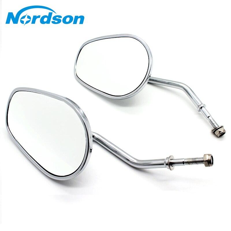 Nordson Chrome Moto Rétroviseur Rétroviseurs Pour Harley Davidson Flhtc Classique XR1200 XL883 Sportster Softail miroir