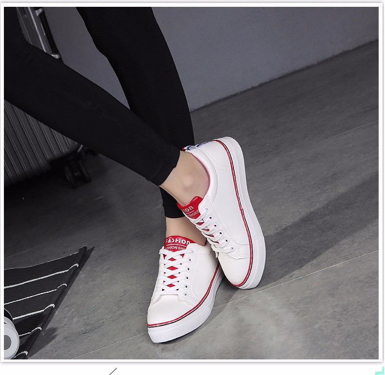 c9394c08e96 Face Force Women Fashion Comfortable Genuine Leather Hard-Wearing Skateboarding  shoes Outdoor Breathable Non-slip shoes Sneakers