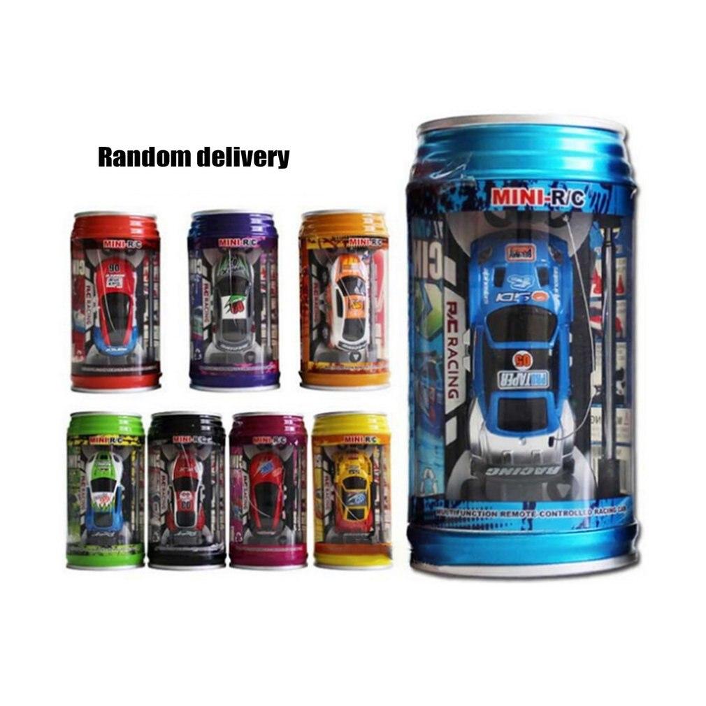 Multi-color gran oferta Control remoto coche Coke Can Mini RC coche Radio Control remoto Micro coche de carreras de juguete para chico regalos de navidad
