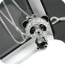 Costume Jewelry Necklace Pendant Girl Women for Kawaii Gift New Bling Panda-Design Color-Alloy