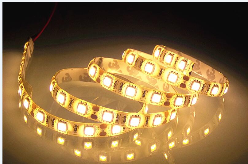 DC12V IP65 Waterproof Flexible Light LED EL Products Strip 5050,Warm White 60LEDs/m 5m/lot.