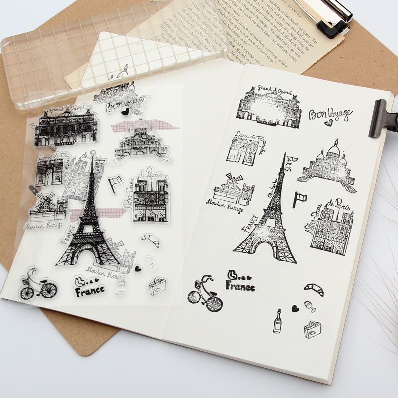 Transparent Flower Clear Stamp DIY Photo Silicone Seals