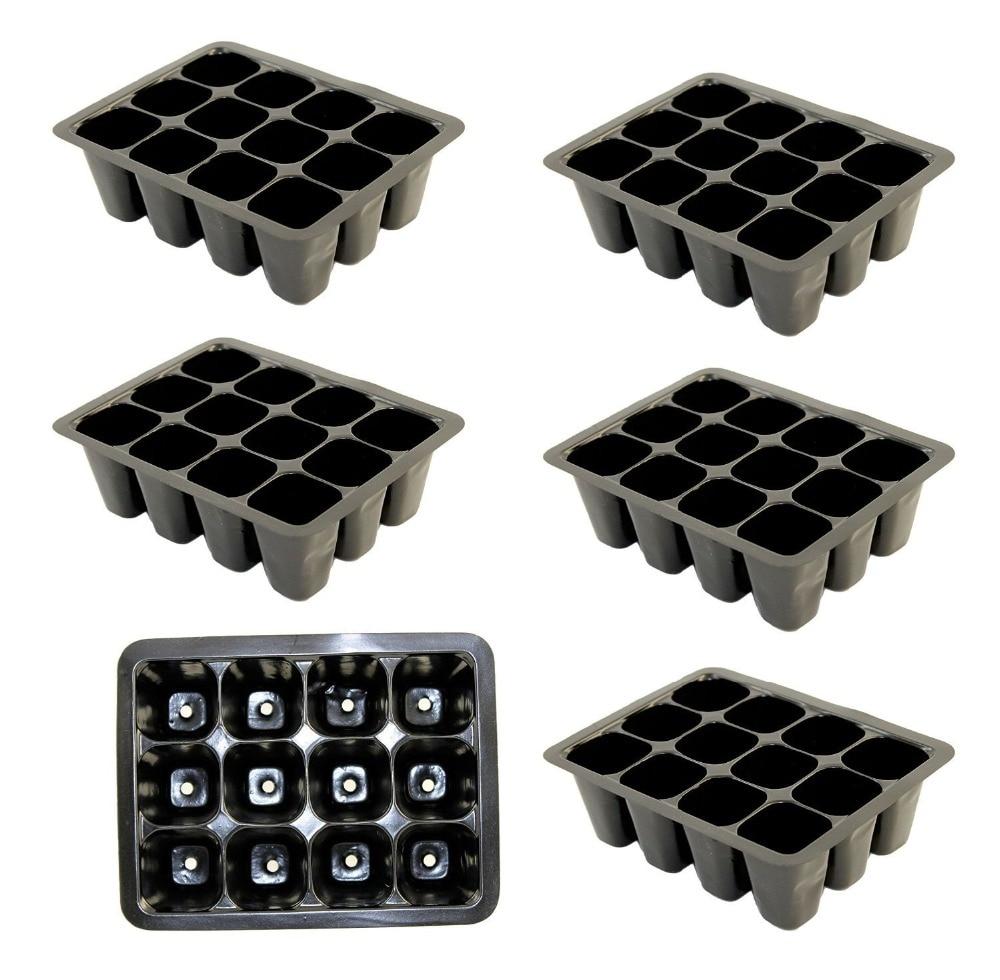 Pak van 6 zaaizaadbakken, startcellen voor zaaigoed -zaaibakken - Tuinbenodigdheden