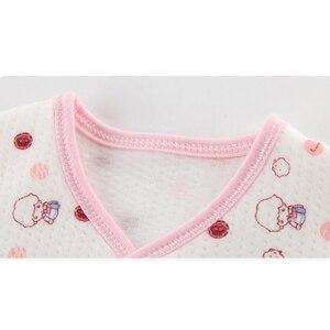 Image 5 - 18 조각 신생아 아기 세트 소년 의류 100% 코튼 유아 정장 아기 소녀 옷 복장 바지 아기 의류 모자 턱받이 로파 드 비비