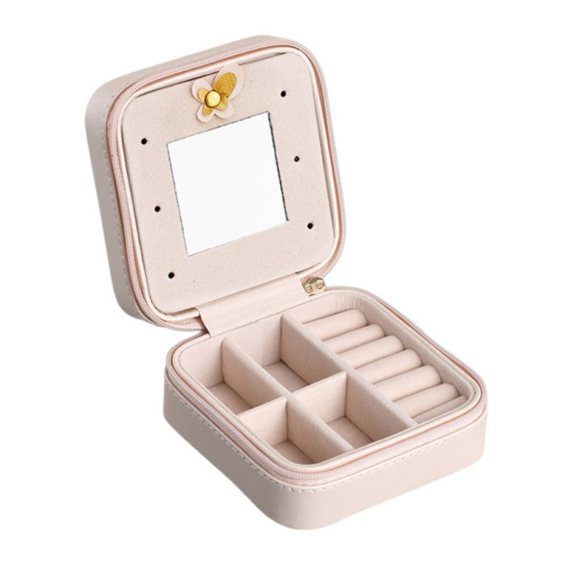 Hot Jewelry Storage Boxes Bins Packaging Casket Exquisite Makeup Case Cosmetics Beauty Organizer Graduation Birthday Gift