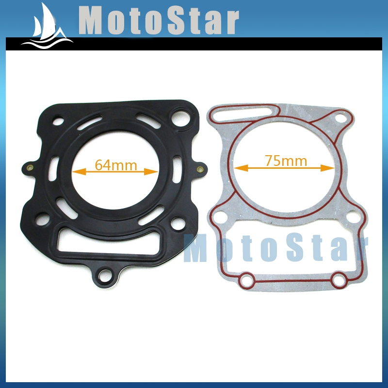 Cylinder Head For Cylinder Piaggio Liquid Cooled: Cylinder Head Gaskets Set For Chinese Zongshen CG200 200cc