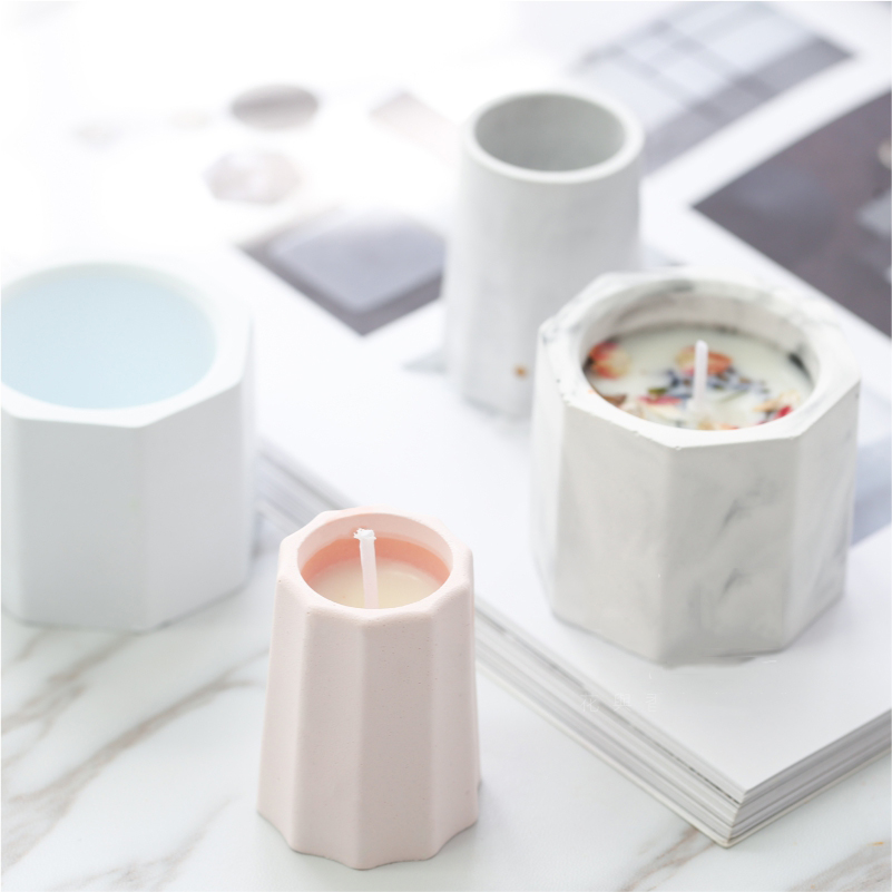 Mini Silicone Concrete Mold Candle Holder Cement Mold Succulent Flower Pot Mould Candlestick Plaster Gypsum Mold