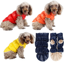 Warm Small Dog Jacket Winter pet Clothes dog Coat Soft velvet Puppy vest Down cotton Clothing for teddy Chihuahua Yorkie dogs