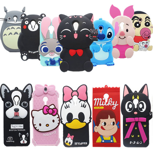 22 Types for Xiaomi Redmi Note 2 Case Lovely Cute 3D Cartoon Soft Silicon Cover For Xiaomi Hongmi Note2 Mobile Phone Cases