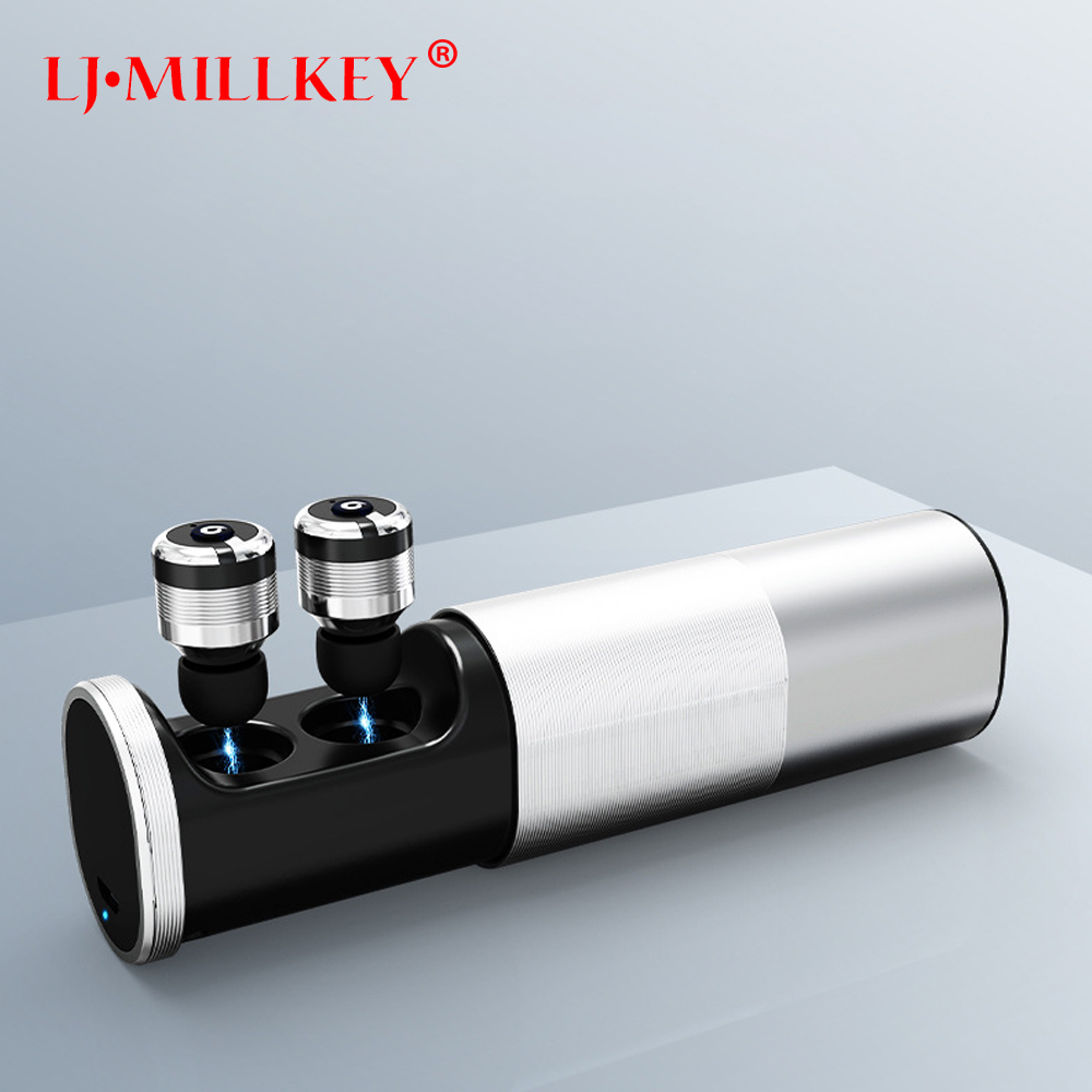 TWS Mini Bluetooth Earphone Wireless Earbuds Stereo Power Bank for phone sport with microphone for iphone LJ-MILLKEY YZ116