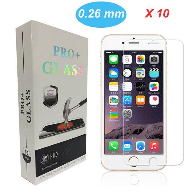 10 unids 0.26mm 2.5D Mejor precio Ultra Thin HD Clear a prueba de explosiones Templado Protector de Pantalla de Películas para iPhone 6 4.7