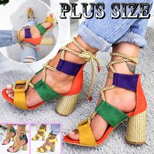 цены Women Sandals Wedge Espadrilles Summer Shoes Woman 7CM High Heels Sexy Gladiator Women Heels Sandals Lace Up Platform Sandals