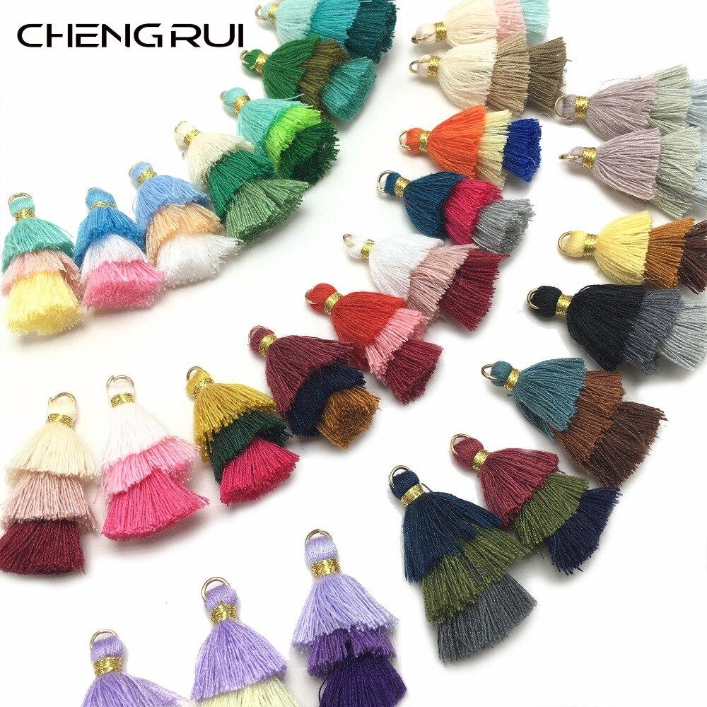 CHENGRUI L81,3.5cm,cotton tassels,mini tassel,handmade,tassel fringe for curtains,fringe fabric,fringe curtain,2pcs/bag