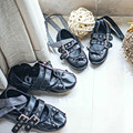 Girls sandals Ribbon Bow Fashion Leather Girls dancing Princess sandals kids toe shoe children ballet shoes