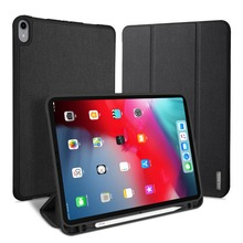 Flip Case For Apple iPad Pro 12.9 2018 PU Leather Bumper Protective Stand Auto Sleep Wake Up Cover Tablet Bag With Pencil Holder стоимость