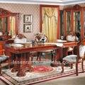 Telescópica estilo Europeo de madera moderna mesa de comedor de madera Maciza mesa de comedor