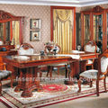 Telescopic European style wooden modern dining table Solid wood dining table