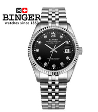 Brand Binger High Quality Military Watch Men Lovers Watches Fashion Luxury Automatic Stainless Steel Band Man Black Wristwatch