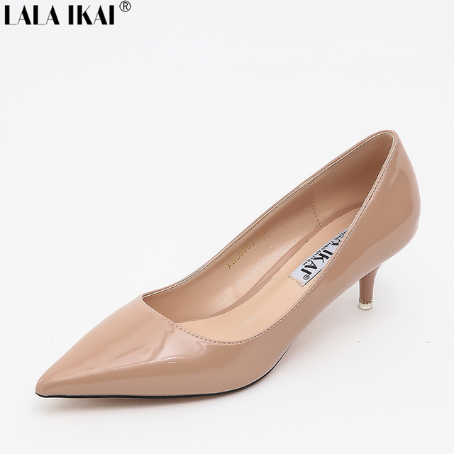 Lala Ikai Women Pumps 5 Cm Nude Heels Ladies Casual High -2859