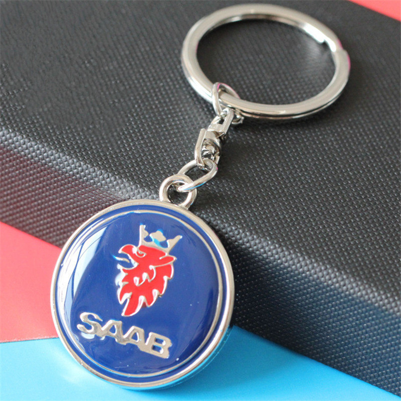 3D металлический логотип для автомобиля брелок кольцо для ключей автомобиля держатель для SAAB Aero X 9-3 9-5 9-7X SCANIA chaviro автостайлинг