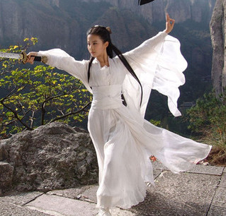 High Quality Classic hanfu costume Chinese folk dance white/red/pink costumes of Movie Roles