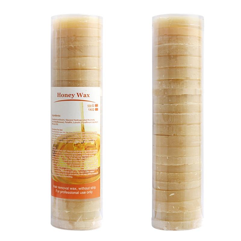 все цены на 500g Hair Removal Cream Honey Flavor No Strip Depilatory Hot Film Hard Wax Pellet Waxing Bikini Hair Removal Cake For Beauty T3