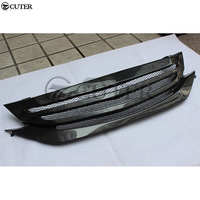 For Honda Accord 9th Carbon Fiber Front bumper Grille car racing grills body kit 13 17