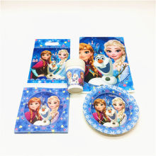47Pcs Disney Frozen Elsa Theme Paper Cup+Plate+Gift Bag+Napkins+Tablecloth Wedding Girl Birthday Theme Party Decoration Supply(China)