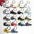 Mini Jordan 4 Llavero Para Los Hombres de Silicona Mujer Sneaker Llavero Regalos Llavero Llavero Titular de La Clave