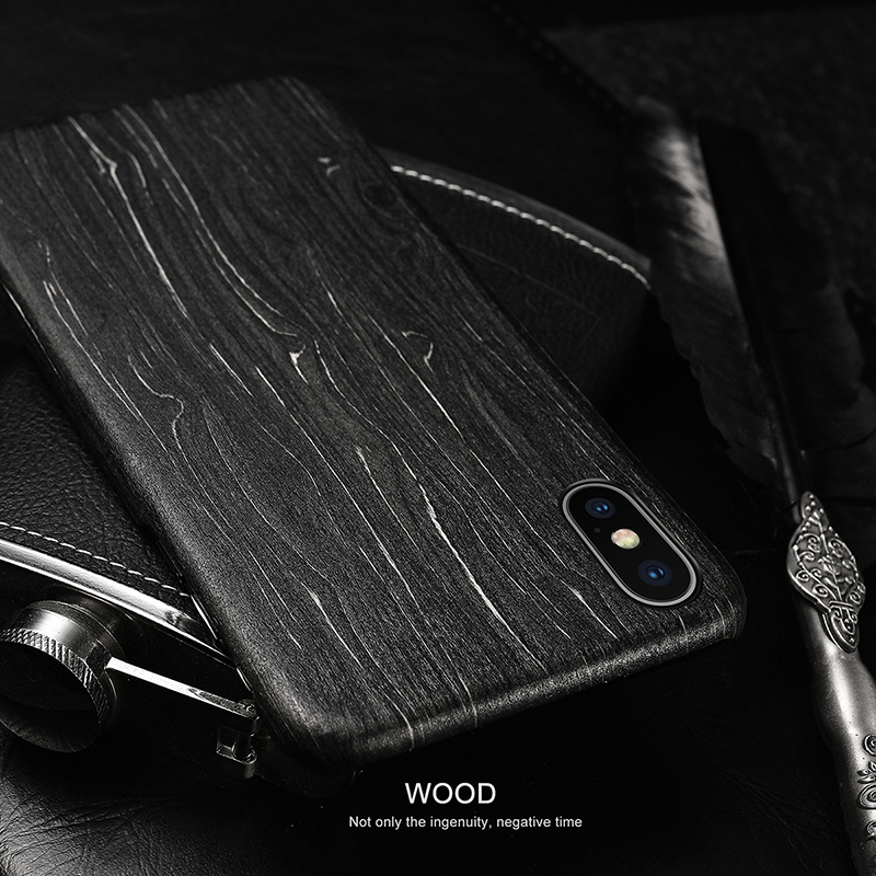 Image 2 - For Apple iPhone 11 Pro X XS Max XR walnut Enony Wood Rosewood MAHOGANY Wooden Back Case CoverFitted Cases   -