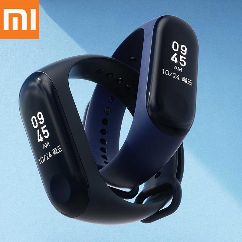 Instock 2018 nuevo Original Xiaomi Mi Band 3 banda inteligente Mi Band 3 reloj pulsera inteligente pantalla OLED Mi band 2 versión de actualización