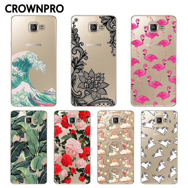 CROWNPRO FOR Coque Samsung Galaxy A5 2016 Case Cover A510 A510F Phone Soft Silicone Back Capa FOR Funda Samsung A5 2016 Case